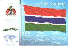 POSTAL   BANDERA DE THE GAMBIA - Otras Colecciones