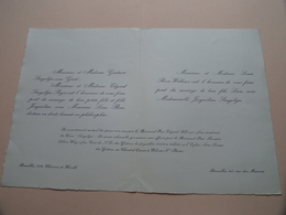 Jacqueline SINGELIJN & Léon ROEX Op 30 Juillet 1949 à WOLUWE-St.-PIERRE ( Zie / Voir Photo ) Mariage ! - Mariage