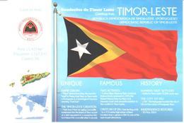 POSTAL   BANDERA DE TIMOR-LESTE - Otras Colecciones