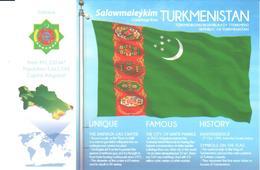 POSTAL   BANDERA DE TURKMENISTAN - Otras Colecciones