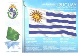 POSTAL   BANDERA DE URUGUAY - Otras Colecciones