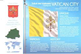 POSTAL   BANDERA DE VATICAN CITY - Otras Colecciones