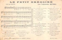 Musique (Fantaisie) - Le Petit Grégoire Par Théodore Botrel - Musique