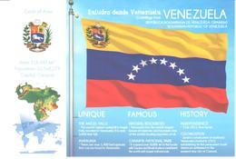 POSTAL   BANDERA DE VENEZUELA - Otras Colecciones
