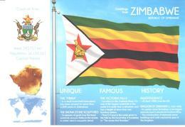 POSTAL   BANDERA DE ZIMBABWE - Otras Colecciones