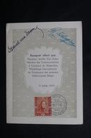 BELGIQUE  - Oblitération Temporaire De Bruxelles Sur Menu En 1949 , Signatures, Voir Détail - L 50247 - Belgium