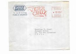 1955 UNITED ARTISTS PARIS - VERA CRUZ - Oblitérations Mécaniques (Autres)