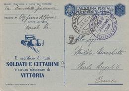 MILITARI -C - CARTOLINA POSTALE PER LE FORZE ARMATE - ANNULLO - DIV.ALPINA CUNEENSE 114^ COMPAGNIA T.M. - Oorlog 1939-45