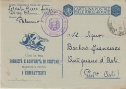 MILITARI -C - CARTOLINA POSTALE PER LE FORZE ARMATE - POSTA MILITARE N°3550 - Oorlog 1939-45