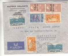 Syrie - Lettre De 1945 ° - Oblit Damas - Exp Vers Bruxelles - - Syrien