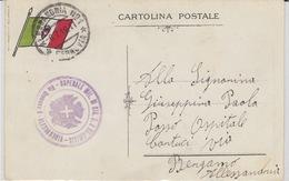 MILITARI -C - CARTOLINA POSTALE - ANNULLO - OSPEDALE MILITARE - ALESSANDRIA - Oorlog 1939-45