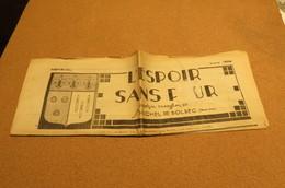 Journal Mars 1938 L'Espoir Sans Peur Journal Paroissial St Michel De Bolbec 76 Normandie Chrétienne Lys Coquilles - Kranten