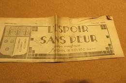 Journal Févri 1938 L'Espoir Sans Peur Journal Paroissial St Michel De Bolbec 76 Normandie Chrétienne Lys Coquilles - Kranten