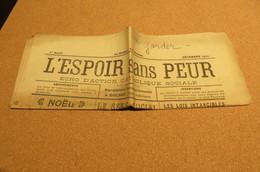 Journal Déc 1922 1 ère Année L'Espoir Sans Peur écho D'action Catholique Sociale  De Bolbec 76 Normandie Chrétienne - Non Classificati