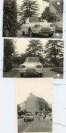 2 PHOTOS PERFORÉES. Ancienne Voiture Citroën Ami 6, 8. 3 CV . JUIN 1961 - Automobiles