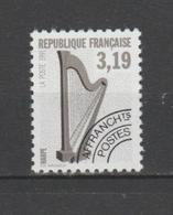 """FRANCE / 1992 / Y&T Préo N° 220A : """"Instruments De Musique"""" - 4ème Série : Harpe 3.19 F Dentelé 13 - Neuf Sans Gomme - 1989-...."""