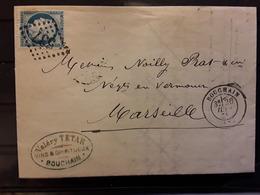 Lettre De BOUCHAIN Nord , Vins Et Spiritueux TETAR, GC 537 / CERES No 60 , 1875 > Marseille,  TB - 1849-1876: Periodo Classico