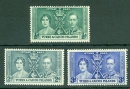 Turks & Caicos Is: 1937   Coronation     MH - Turks And Caicos