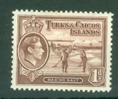 Turks & Caicos Is: 1938/45   KGVI   SG196    1d     MH - Turks And Caicos