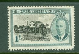 Turks & Caicos Is: 1950   KGVI   SG229    1/-      Used - Turks And Caicos