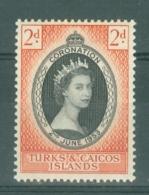 Turks & Caicos Is: 1953   Coronation     MH - Turks And Caicos