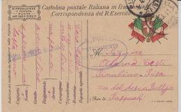 MILITARI -C - CARTOLINA POSTALE ITALIANA IN FRANCHIGIA - PIAZZA MARITTIMA - DISTACCAMENTO 196° BATTAGLIONE M.T. - Oorlog 1939-45