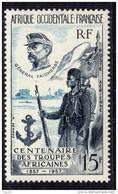 A. O. F.   P. A.  N° 21  XX  Centenaire Des Troupes Africaines Sans Charnière TB - Unused Stamps