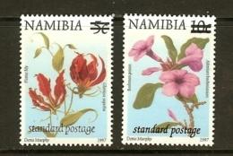 NAMIBIA, 2002, MNH  Stamps, Surcharge On Definitives, Sa413-414   #8012 - Namibia (1990- ...)