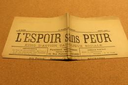 Journal Aout 25 5 ème  Année L'Espoir Sans Peur écho D'action Catholique Sociale  De Bolbec 76 Normandie Chrétienne - Kranten
