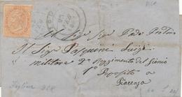 1864 FIGLINE DOPPIO CERCHIO GRANDUCALE SU 0,10 DELARUE SINGOLO ISOLATO TARIFFA X MILITARE - 1861-78 Vittorio Emanuele II