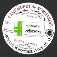 Etiquettes De Fromage.    Camembert De Normandie.   St Loup De Fribois (14). - Formaggio