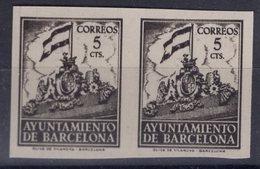 España 1940. Barcelona. Ed 28s Pareja. Variedad. Serie 8ª Letra X. MNG. *. - Barcelona