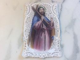 Canivet Polychrome Représentant Le Christ  Portant La Croix. - Devotion Images