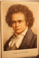Portrait Of   Composer Ludwig Van Beethoven  By Yakovlev - Old USSR PC 1964 - Cantanti E Musicisti
