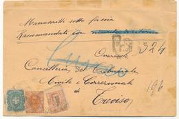 3 /07/1901 PRIMI GIORNI FLOREALE RACCOMANDATA CON GEMELLI 0,20 ARANCIO UMBERTO -VITT EM III FTA ALBERTO DIENA - 1900-44 Vittorio Emanuele III