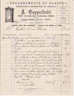 98000 Monaco Cappelletti Ébénisterie Facture Pour Maubert à Monaco Mai 1901 - Autres