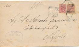 1907 BELLA FRODE POSTALE CON GEMELLI 0,10 LEONI + RITAGLIO CARTOLINA POSTALE DA MUNICIPIO DI TERLIZZI - Storia Postale