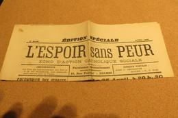 Journal AVRIL 26 L'Espoir Sans Peur Journal Paroissial St Michel De Bolbec 76 Normandie Chrétienne St Romain - Kranten