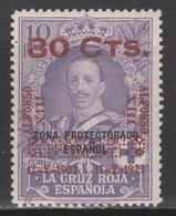 1927 ALFONSO XIII CORONACIÓN 80 Cts Sobre 10 Pts*. MARRUECOS. MUY RARO. - 1889-1931 Royaume: Alphonse XIII