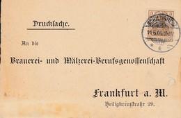 CP Affr Michel 69 Obl SCHILTIGHEIM / * * A Du 14.6.06 Adressée à Frankfurt - Postmark Collection (Covers)