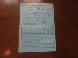 ABBONAMENTO AUTOBUS MENSILE  AUTOLINNE S.A.R.P.-PARLA-CALTANISSETTA-1975 - Season Ticket