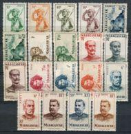 COLONIES/ MADACASCAR ( POSTE ) : Y&T  N° 300/318  TIMBRES  NEUFS  AVEC  CHARNIERE , A  VOIR . - Neufs