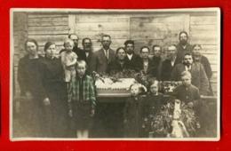 Antique Post Mortem BABY In Casket Vintage Funeral Photo Postcard 672 - Cartoline