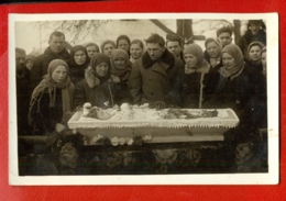 Antique Post Mortem GIRL In Casket Vintage Funeral Photo Card 953 - Postcards