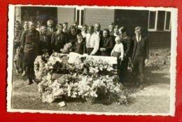 Antique Post Mortem MAN In Casket Vintage Funeral Photo PC. 310 - Cartoline
