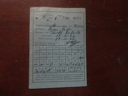 ABBONAMENTO AUTOBUS MENSILE  AUTOLINEE S.A.R.P.-PARLA-CALTANISSETTA-1974 - Abonnements Hebdomadaires & Mensuels