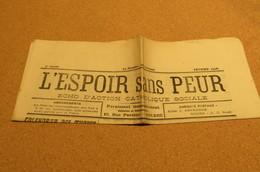 Journal Fév  26 L'Espoir Sans Peur Journal Paroissial St Michel De Bolbec 76 Normandie Chrétienne Edw Mon - Kranten