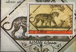 Ajman 1972 Mi. Bf. 522A Ancient Art Sheet Perf. CTO - Ajman