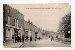 - CPA SAINT-CIERS-SUR-GIRONDE (33) - Rue De La Poste 1922 (belle Animation) - Edition A. DANDO - - France