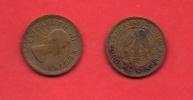 SOUTH AFRICA, 1957,  Circulated Coin, 1/4 Pence,  Elizabeth II, Bronze, Km44  C 1388 - Zuid-Afrika